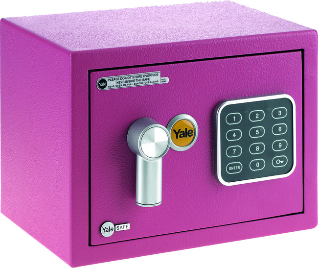 Yale Safe Mini Pink YSV/170/DB1